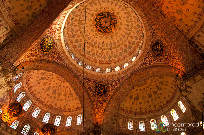Ceiling Inside Yeni Camii Mosque - Istanbul, Turkey