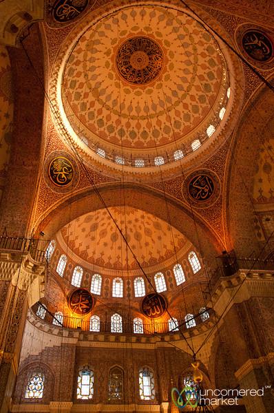 Inside Yeni Camii Mosque - Istanbul, Turkey