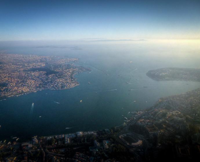 istanbul Bosporus aerial view
