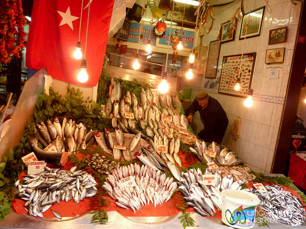 Fish Vendor Off of İstiklâl Caddesi - Istanbul, Turkey