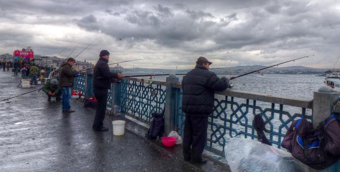 fishing galata bridge istanbul