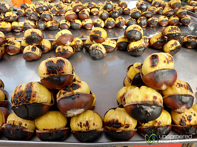Roasted Chestnuts in Istanbul, Turkey