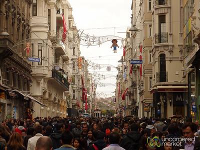 Street Scene on İstiklâl Caddesi - Istanbul, Turkey