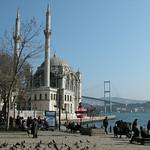Mosque and Bosphorus Bridge at Ortaköy – Istanbul, Turkey – Photo
