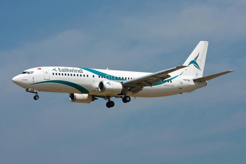 "TC-TLE Boeing 737-4Q8 ""Tailwind Airlines"" c/n 27628 Brussels/EBBR/BRU 05-07-11"