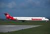 """TC-INB Douglas MD-83 """"Sunways"""" c/n 49936 Glasgow/EGPF/GLA 04-06-96 (35mm slide)"""