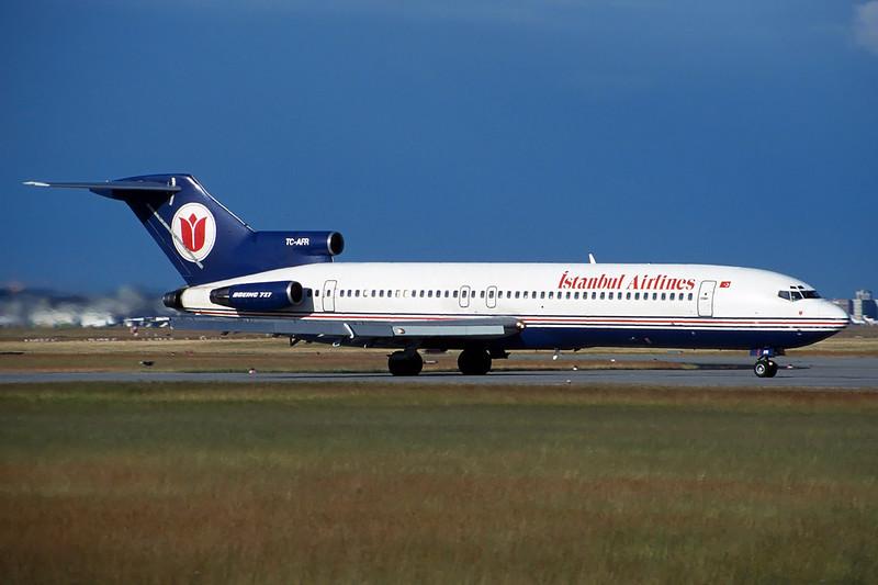 "TC-AFR Boeing 727-230Adv ""Istanbul Airlines"" c/n 21621 Frankfurt/EDDF/FRA 08-06-97 (35mm slide)"