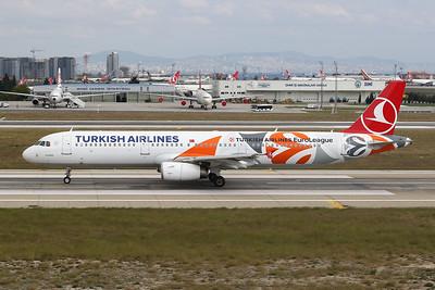 "TC-JRO Airbus A321-231 c/n 4682 Istanbul - Ataturk/LTBA/IST 09-10-18 ""EuroLeague"""
