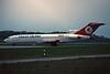 TC-JBF Boeing 727-2F2 c/n 20980 Luxembourg/ELLX/LUX 04-04-96 (35mm slide)