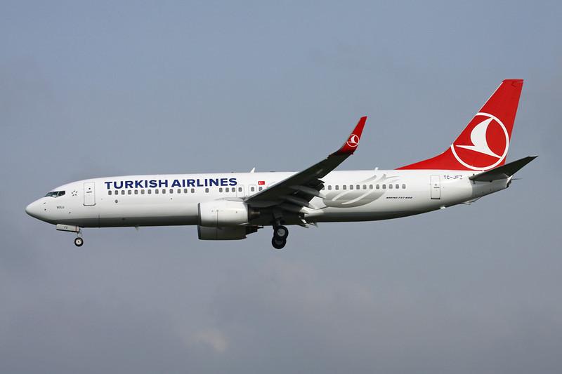 TC-JFZ Boeing 737-8F2 c/n 29784 Brussels/EBBR/BRU 25-03-14