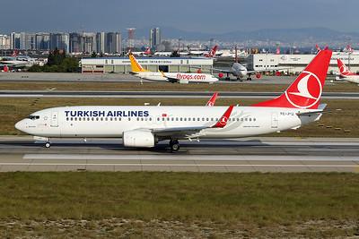 """TC-JVZ Boeing 737-8F2 c/n 60025 Istanbul - Ataturk/LTBA/IST 09-10-18 """"6000th"""""""