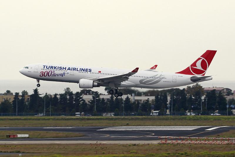 "TC-LNC Airbus A330-303 c/n 1696 Istanbul - Ataturk/LTBA/IST 11-10-18 ""300th Aircraft"""