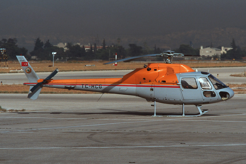 TC-HCG Aerospatiale AS.355F2 Ecureuil II c/n 5354 Athens-Hellenikon/LGAT/ATH 22-09-00 (35mm slide)