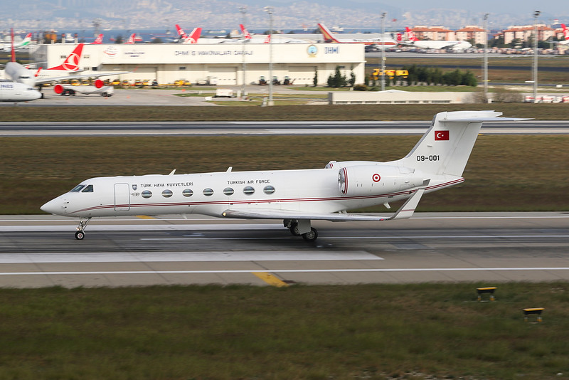 "09-001 Gulfstream G550 ""Turkish Air Force"" c/n 5241 Istanbul - Ataturk/LTBA/IST 09-10-18"