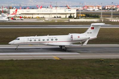 "09-001 Gulfstream G550 ""Turkish Air Force"" c/n 5241 Istanbul - Ataturk/LTBA/IST 09-10-18"