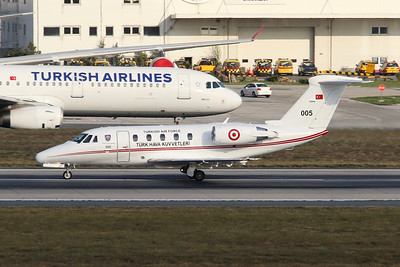"005 Cessna 650 Citation VII ""Turkish Air Force"" c/n 650-7026 Istanbul - Ataturk/LTBA/IST 09-10-18"