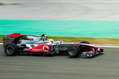 Lewis Hamilton driving the McLaren Mercedes MP4-25 during the Turkish Grand Prix 2010