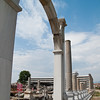 Looking down the length of the columns of the West Stoa from the Faustina Gate.