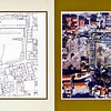 Plan and satellite view of the Agora.<br /> (scanned from brochure)
