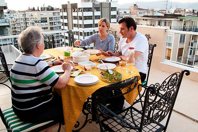 19 April 2010 - Around Alsancak Dinner on the terrace of mom's penthouse apartment.