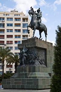 20 April 2010 - Around Alsancak The centerpiece of Cumhuriyet Meydanı (Republic Square) is this statue honoring Atatürk and the liberation of İzmir on 9 September 1922.