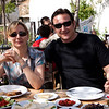 18 April 2010 - Day Trip to Efes<br /> Aylin & Murat at Le Jardin in Şirince.
