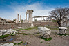 the Temple of Trajan~only genuine Roman building surviving on the site