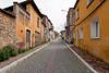 Narrow old street in Bergama, Turkey