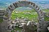 Roman arch at the Acropolis Pergamon outside Bergama, Turkey