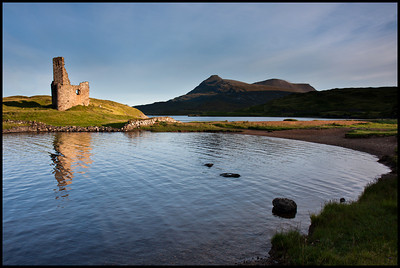 Ardvreck Castle at sunrise, Loch Assynt