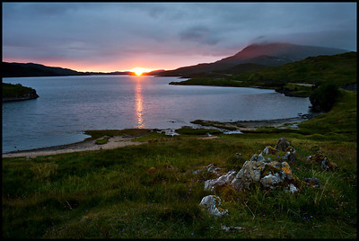Loch Assynt at sunset