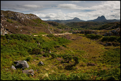 View from the road, Assynt