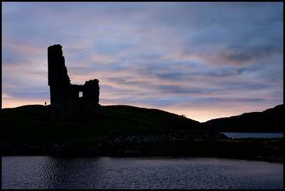Ardvreck Castle at sunset, Loch Assynt