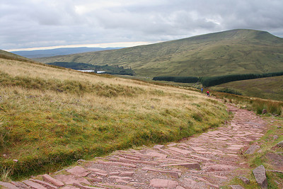 On the trail to Pen y Fan