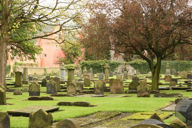 Cemetery in Dunfermline, Scotland