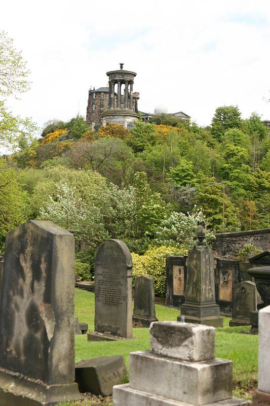 Cemetery in Edinburgh, Scotland