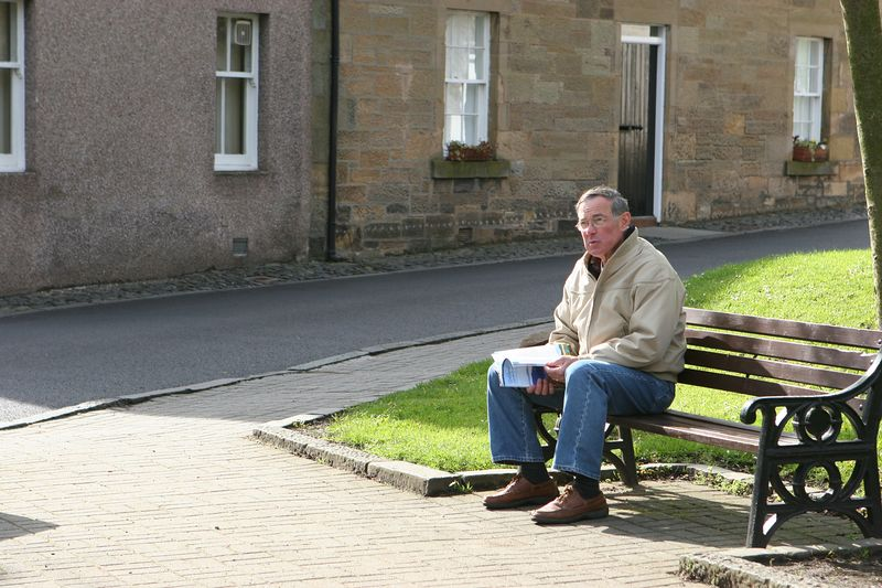 Dad, in Falkland Scotland
