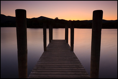 Derwent Water at sunset
