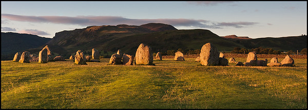 Castlerigg stone circle at sunrise