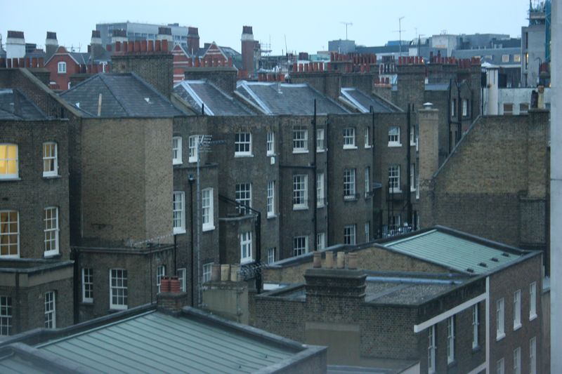 View from hotel window, Bloomsbury