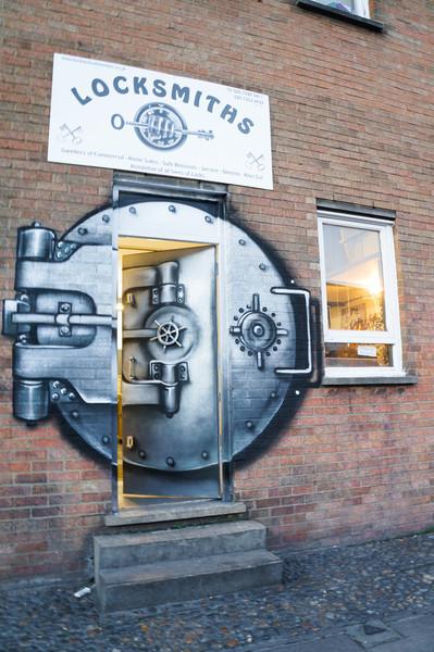 Creative Locksmiths door in London, UK