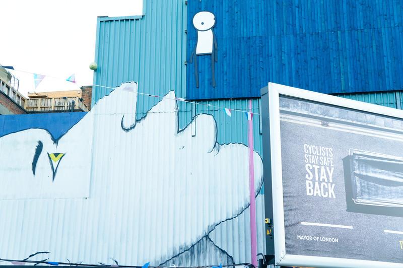 Run & Stik mural in London, UK
