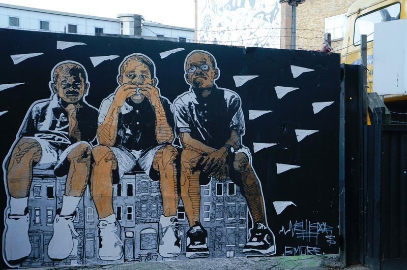 Nether street art in London, UK