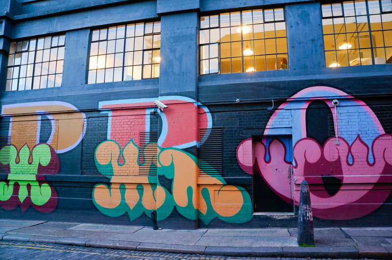 Eine street art in London, UK