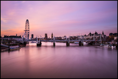 Pariliament from Waterloo Bridge at sunrise