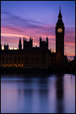 Westminster at sunset