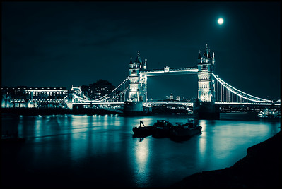 Tower Bridge under moonlight