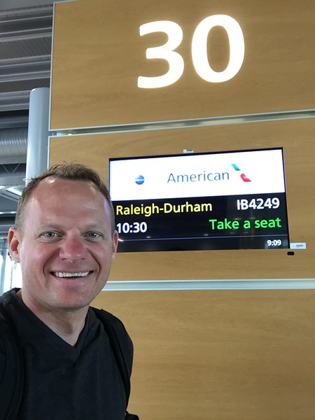 Wrong LHR gate, dude. I wish I was going to Raleigh-Durham to see my brother, Joe...