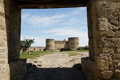 Akkerman Fortress - Second Court looking at the third court with the citadel and the commander's Tower