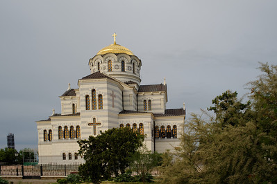 Sevstopol - Chersonesus, St Wladimir Cathedral.  Prince Wladimir the Great was baptized on this spot in 988 AD
